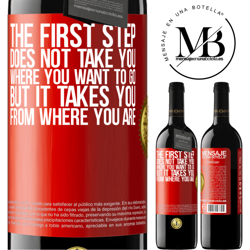 24,95 € Free Shipping   Red Wine RED Edition Crianza 6 Months The first step does not take you where you want to go, but it takes you from where you are Red Label. Customizable label Aging in oak barrels 6 Months Harvest 2018 Tempranillo