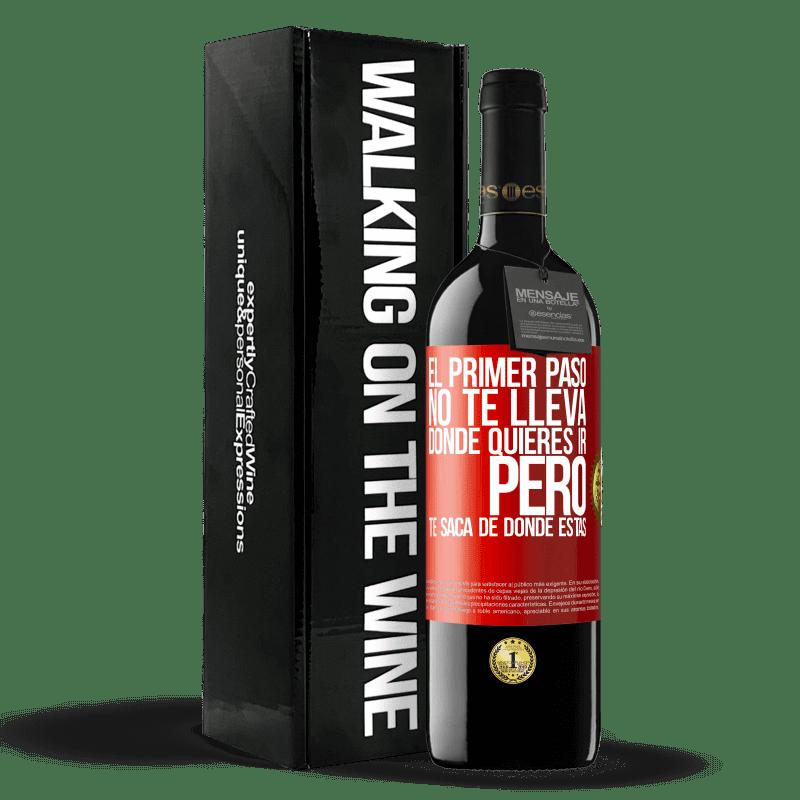 24,95 € Envoi gratuit | Vin rouge Édition RED Crianza 6 Mois La première étape ne vous emmène pas où vous voulez aller, mais elle vous mène d'où vous êtes Étiquette Rouge. Étiquette personnalisable Vieillissement en fûts de chêne 6 Mois Récolte 2018 Tempranillo
