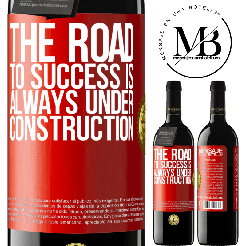 24,95 € Free Shipping | Red Wine RED Edition Crianza 6 Months The road to success is always under construction Red Label. Customizable label Aging in oak barrels 6 Months Harvest 2018 Tempranillo