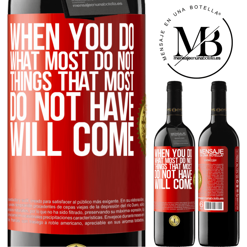 24,95 € Free Shipping   Red Wine RED Edition Crianza 6 Months When you do what most do not, things that most do not have will come Red Label. Customizable label Aging in oak barrels 6 Months Harvest 2018 Tempranillo