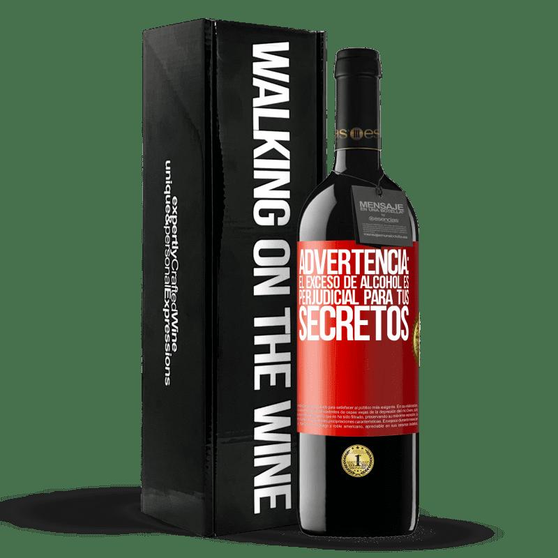 24,95 € Envoi gratuit   Vin rouge Édition RED Crianza 6 Mois Avertissement: un excès d'alcool est dangereux pour vos secrets Étiquette Rouge. Étiquette personnalisable Vieillissement en fûts de chêne 6 Mois Récolte 2018 Tempranillo