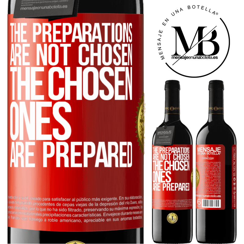 24,95 € Free Shipping | Red Wine RED Edition Crianza 6 Months The preparations are not chosen, the chosen ones are prepared Red Label. Customizable label Aging in oak barrels 6 Months Harvest 2018 Tempranillo