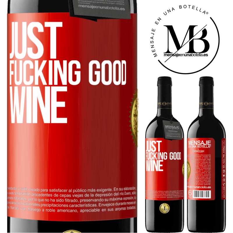 24,95 € Free Shipping | Red Wine RED Edition Crianza 6 Months Just fucking good wine Red Label. Customizable label Aging in oak barrels 6 Months Harvest 2018 Tempranillo