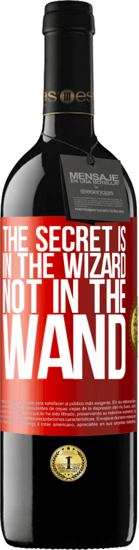 24,95 € Free Shipping | Red Wine RED Edition Crianza 6 Months The secret is in the wizard, not in the wand Red Label. Customizable label Aging in oak barrels 6 Months Harvest 2018 Tempranillo