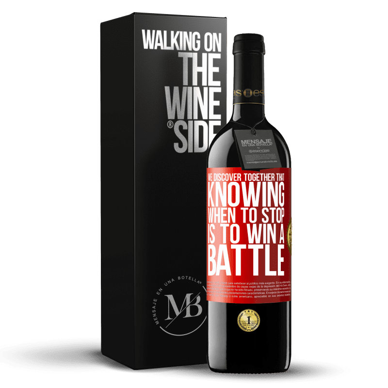 24,95 € Free Shipping | Red Wine RED Edition Crianza 6 Months We discover together that knowing when to stop is to win a battle Red Label. Customizable label Aging in oak barrels 6 Months Harvest 2018 Tempranillo
