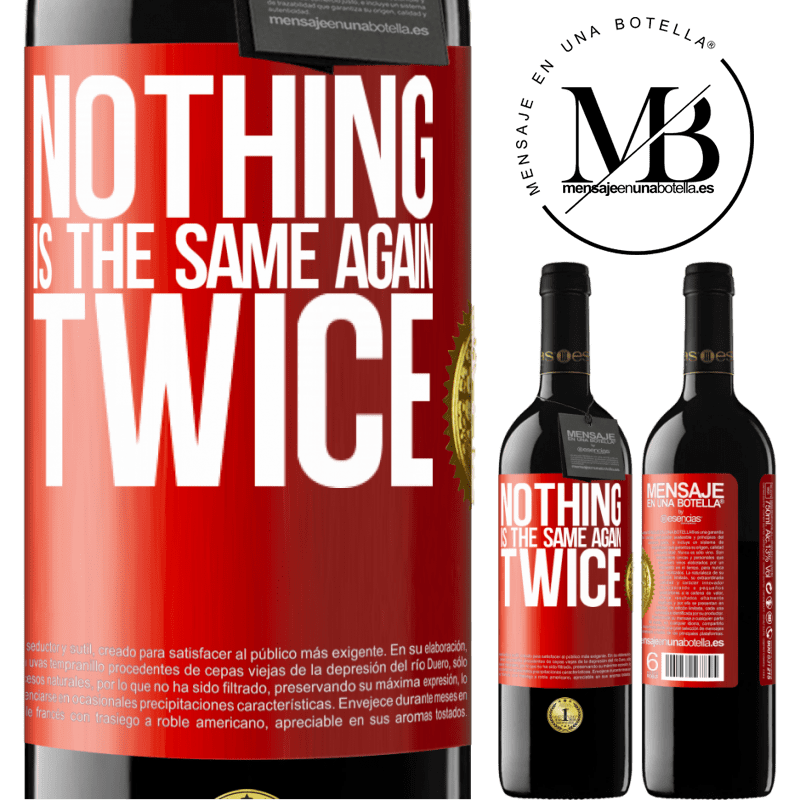 24,95 € Free Shipping | Red Wine RED Edition Crianza 6 Months Nothing is the same again twice Red Label. Customizable label Aging in oak barrels 6 Months Harvest 2018 Tempranillo