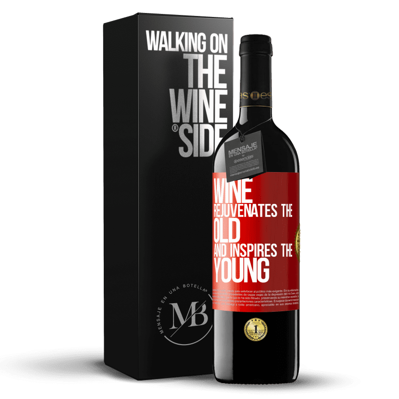 24,95 € Free Shipping | Red Wine RED Edition Crianza 6 Months Wine rejuvenates the old and inspires the young Red Label. Customizable label Aging in oak barrels 6 Months Harvest 2018 Tempranillo