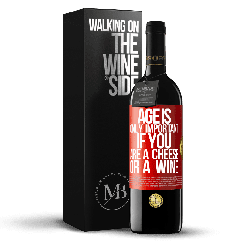 24,95 € Free Shipping | Red Wine RED Edition Crianza 6 Months Age is only important if you are a cheese or a wine Red Label. Customizable label Aging in oak barrels 6 Months Harvest 2018 Tempranillo