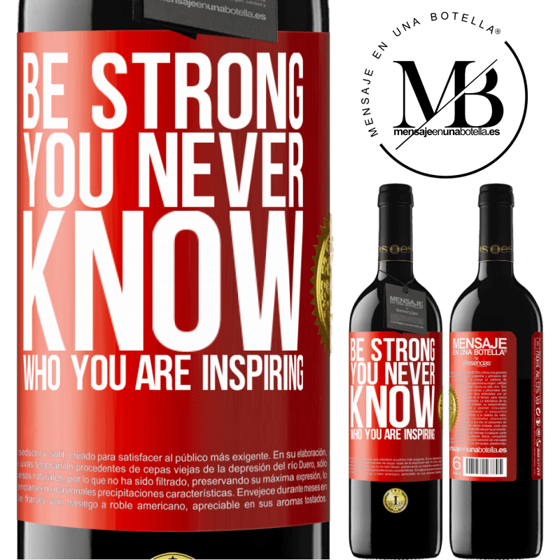24,95 € Free Shipping | Red Wine RED Edition Crianza 6 Months Be strong. You never know who you are inspiring Red Label. Customizable label Aging in oak barrels 6 Months Harvest 2018 Tempranillo