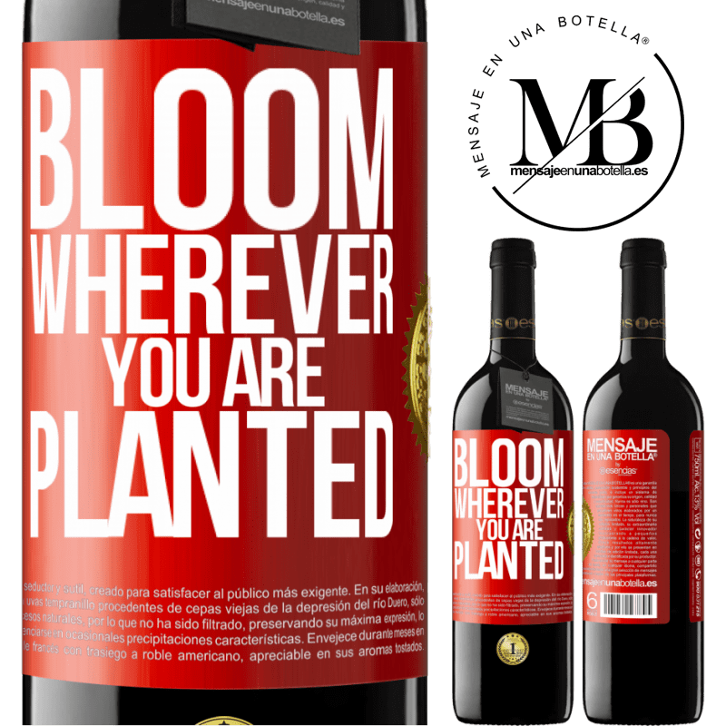24,95 € Free Shipping | Red Wine RED Edition Crianza 6 Months It blooms wherever you are planted Red Label. Customizable label Aging in oak barrels 6 Months Harvest 2018 Tempranillo