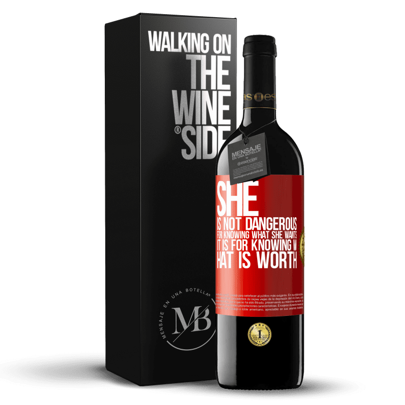 24,95 € Free Shipping | Red Wine RED Edition Crianza 6 Months She is not dangerous for knowing what she wants, it is for knowing what is worth Red Label. Customizable label Aging in oak barrels 6 Months Harvest 2018 Tempranillo