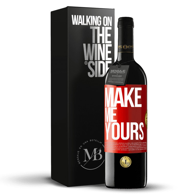 24,95 € Free Shipping | Red Wine RED Edition Crianza 6 Months Make me yours Red Label. Customizable label Aging in oak barrels 6 Months Harvest 2018 Tempranillo