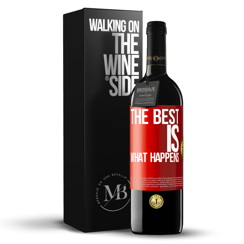24,95 € Free Shipping | Red Wine RED Edition Crianza 6 Months The best is what happens Red Label. Customizable label Aging in oak barrels 6 Months Harvest 2018 Tempranillo