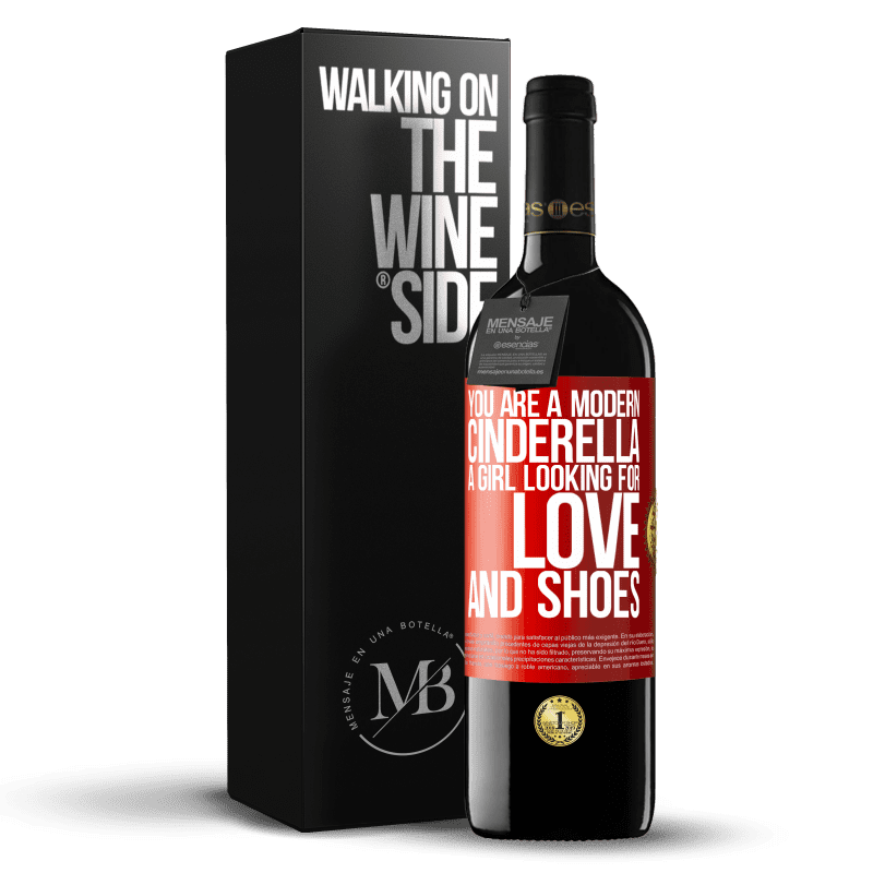 24,95 € Free Shipping | Red Wine RED Edition Crianza 6 Months You are a modern cinderella, a girl looking for love and shoes Red Label. Customizable label Aging in oak barrels 6 Months Harvest 2018 Tempranillo