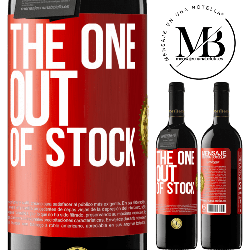 24,95 € Free Shipping | Red Wine RED Edition Crianza 6 Months The one out of stock Red Label. Customizable label Aging in oak barrels 6 Months Harvest 2018 Tempranillo