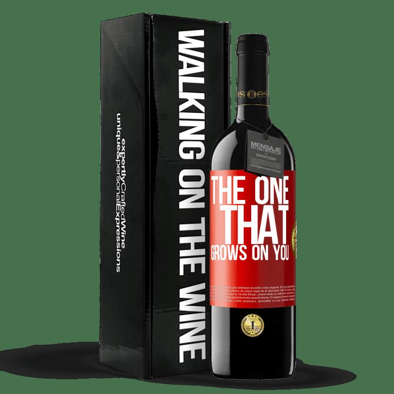 24,95 € Envoi gratuit   Vin rouge Édition RED Crianza 6 Mois The one that grows on you Étiquette Rouge. Étiquette personnalisable Vieillissement en fûts de chêne 6 Mois Récolte 2018 Tempranillo