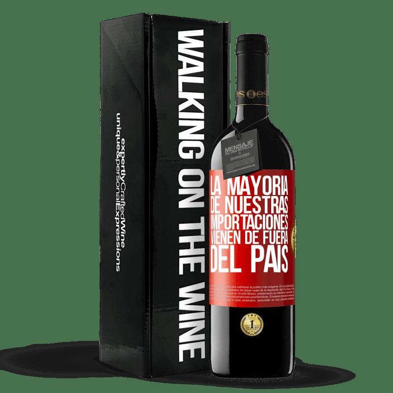 24,95 € Envoi gratuit   Vin rouge Édition RED Crianza 6 Mois La plupart de nos importations proviennent de l'extérieur du pays Étiquette Rouge. Étiquette personnalisable Vieillissement en fûts de chêne 6 Mois Récolte 2018 Tempranillo