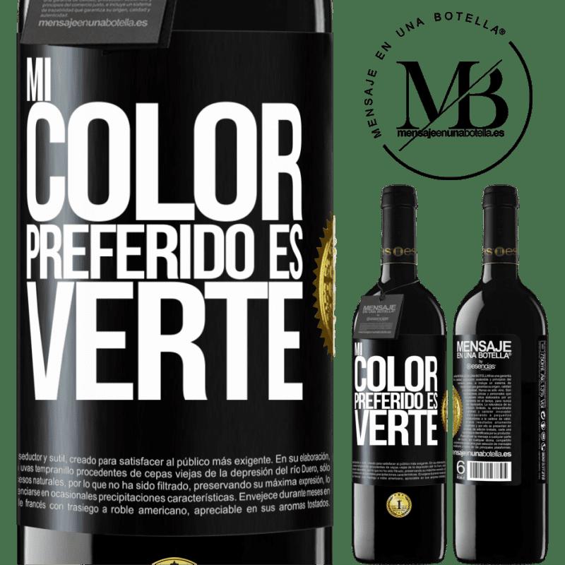 24,95 € Free Shipping   Red Wine RED Edition Crianza 6 Months Mi color preferido es: verte Black Label. Customizable label Aging in oak barrels 6 Months Harvest 2018 Tempranillo