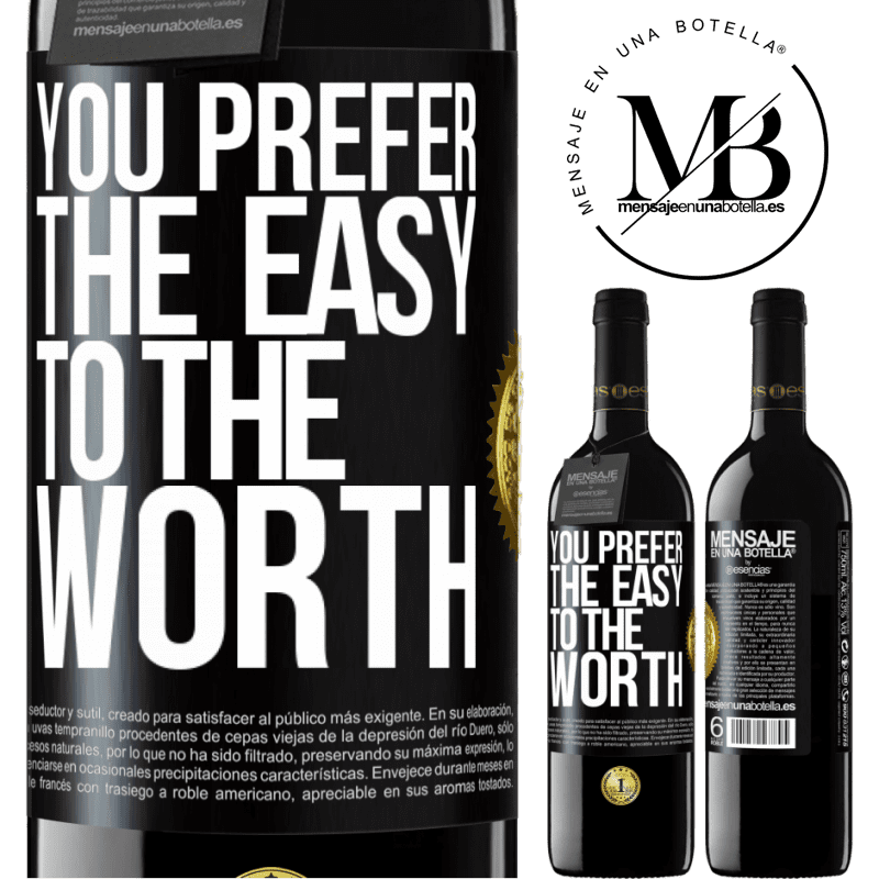 24,95 € Free Shipping | Red Wine RED Edition Crianza 6 Months You prefer the easy to the worth Black Label. Customizable label Aging in oak barrels 6 Months Harvest 2018 Tempranillo