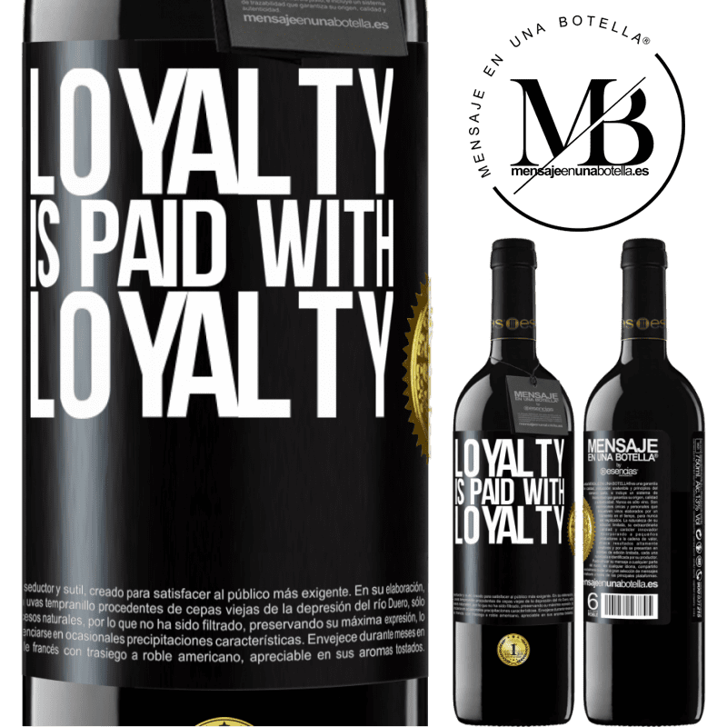 24,95 € Free Shipping   Red Wine RED Edition Crianza 6 Months Loyalty is paid with loyalty Black Label. Customizable label Aging in oak barrels 6 Months Harvest 2018 Tempranillo