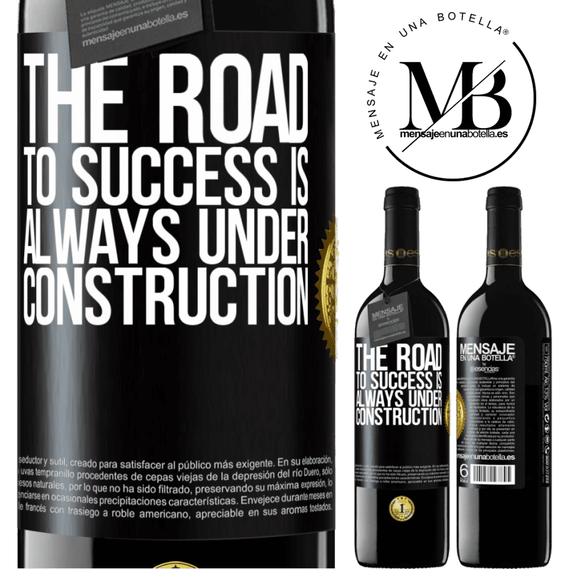 24,95 € Free Shipping | Red Wine RED Edition Crianza 6 Months The road to success is always under construction Black Label. Customizable label Aging in oak barrels 6 Months Harvest 2018 Tempranillo