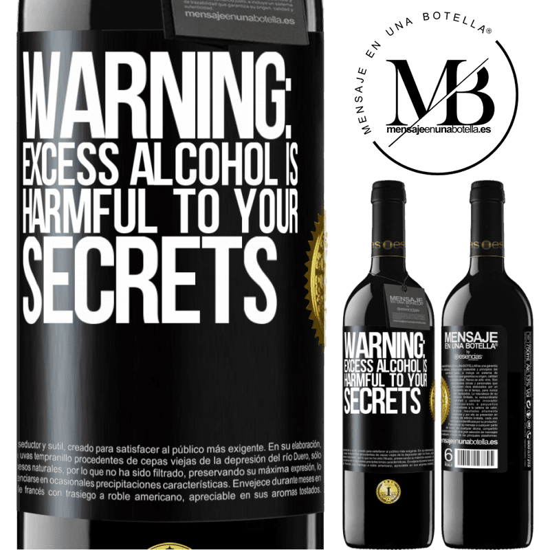 24,95 € Free Shipping | Red Wine RED Edition Crianza 6 Months Warning: Excess alcohol is harmful to your secrets Black Label. Customizable label Aging in oak barrels 6 Months Harvest 2018 Tempranillo