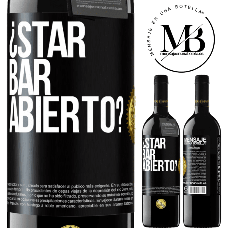 24,95 € Free Shipping | Red Wine RED Edition Crianza 6 Months ¿STAR BAR abierto? Black Label. Customizable label Aging in oak barrels 6 Months Harvest 2018 Tempranillo