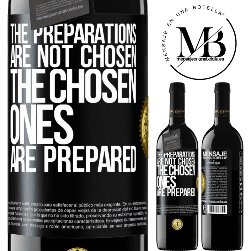 24,95 € Free Shipping | Red Wine RED Edition Crianza 6 Months The preparations are not chosen, the chosen ones are prepared Black Label. Customizable label Aging in oak barrels 6 Months Harvest 2018 Tempranillo