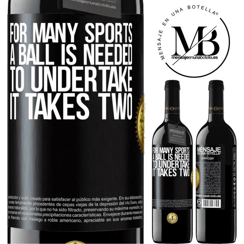 24,95 € Free Shipping | Red Wine RED Edition Crianza 6 Months For many sports a ball is needed. To undertake, it takes two Black Label. Customizable label Aging in oak barrels 6 Months Harvest 2018 Tempranillo