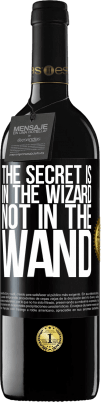 24,95 € Free Shipping | Red Wine RED Edition Crianza 6 Months The secret is in the wizard, not in the wand Black Label. Customizable label Aging in oak barrels 6 Months Harvest 2018 Tempranillo