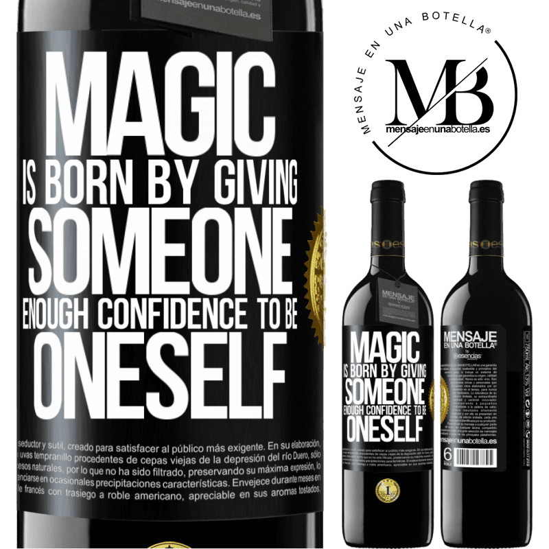 24,95 € Free Shipping | Red Wine RED Edition Crianza 6 Months Magic is born by giving someone enough confidence to be oneself Black Label. Customizable label Aging in oak barrels 6 Months Harvest 2018 Tempranillo
