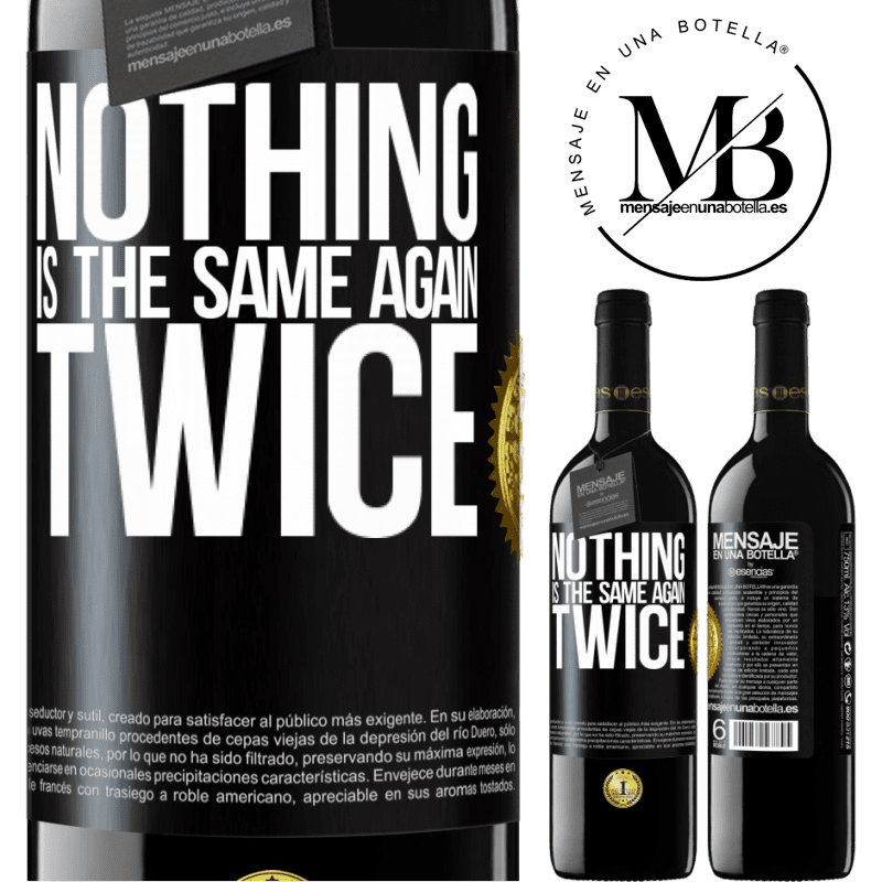 24,95 € Free Shipping | Red Wine RED Edition Crianza 6 Months Nothing is the same again twice Black Label. Customizable label Aging in oak barrels 6 Months Harvest 2018 Tempranillo