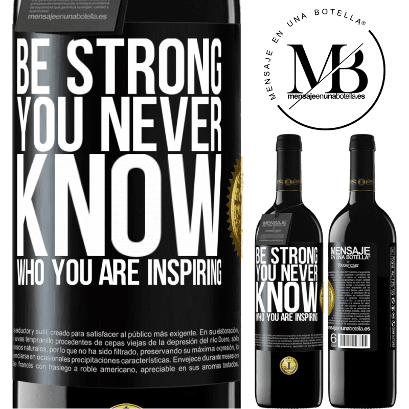 24,95 € Free Shipping | Red Wine RED Edition Crianza 6 Months Be strong. You never know who you are inspiring Black Label. Customizable label Aging in oak barrels 6 Months Harvest 2018 Tempranillo