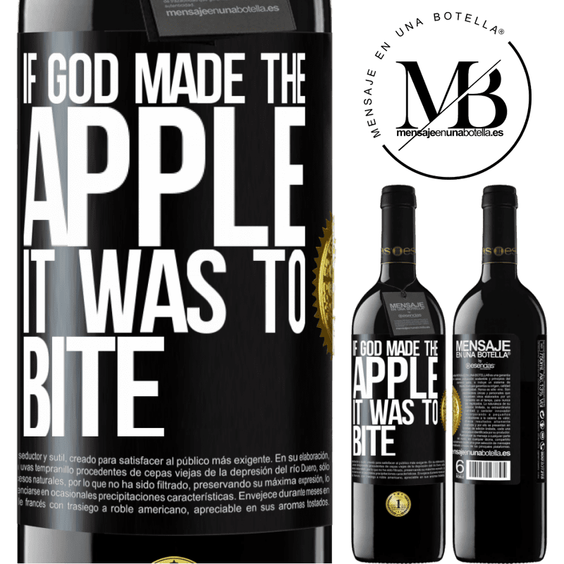 24,95 € Free Shipping | Red Wine RED Edition Crianza 6 Months If God made the apple it was to bite Black Label. Customizable label Aging in oak barrels 6 Months Harvest 2018 Tempranillo