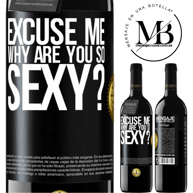 24,95 € Free Shipping | Red Wine RED Edition Crianza 6 Months Excuse me, why are you so sexy? Black Label. Customizable label Aging in oak barrels 6 Months Harvest 2018 Tempranillo