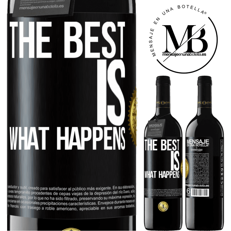 24,95 € Free Shipping | Red Wine RED Edition Crianza 6 Months The best is what happens Black Label. Customizable label Aging in oak barrels 6 Months Harvest 2018 Tempranillo