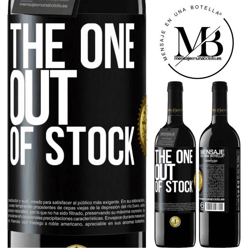 24,95 € Free Shipping | Red Wine RED Edition Crianza 6 Months The one out of stock Black Label. Customizable label Aging in oak barrels 6 Months Harvest 2018 Tempranillo