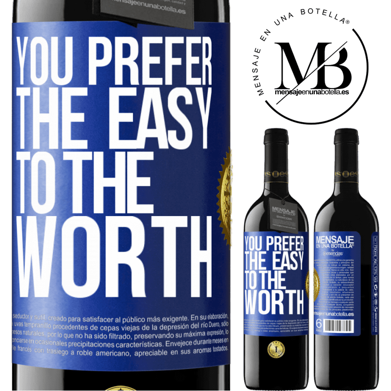 24,95 € Free Shipping | Red Wine RED Edition Crianza 6 Months You prefer the easy to the worth Blue Label. Customizable label Aging in oak barrels 6 Months Harvest 2018 Tempranillo