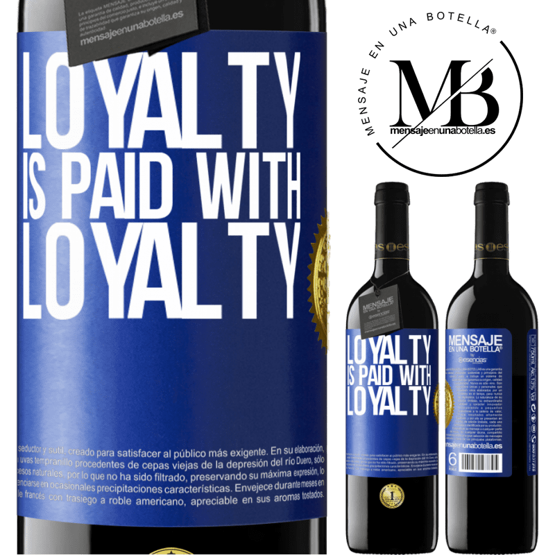 24,95 € Free Shipping   Red Wine RED Edition Crianza 6 Months Loyalty is paid with loyalty Blue Label. Customizable label Aging in oak barrels 6 Months Harvest 2018 Tempranillo
