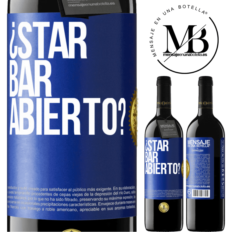 24,95 € Free Shipping | Red Wine RED Edition Crianza 6 Months ¿STAR BAR abierto? Blue Label. Customizable label Aging in oak barrels 6 Months Harvest 2018 Tempranillo