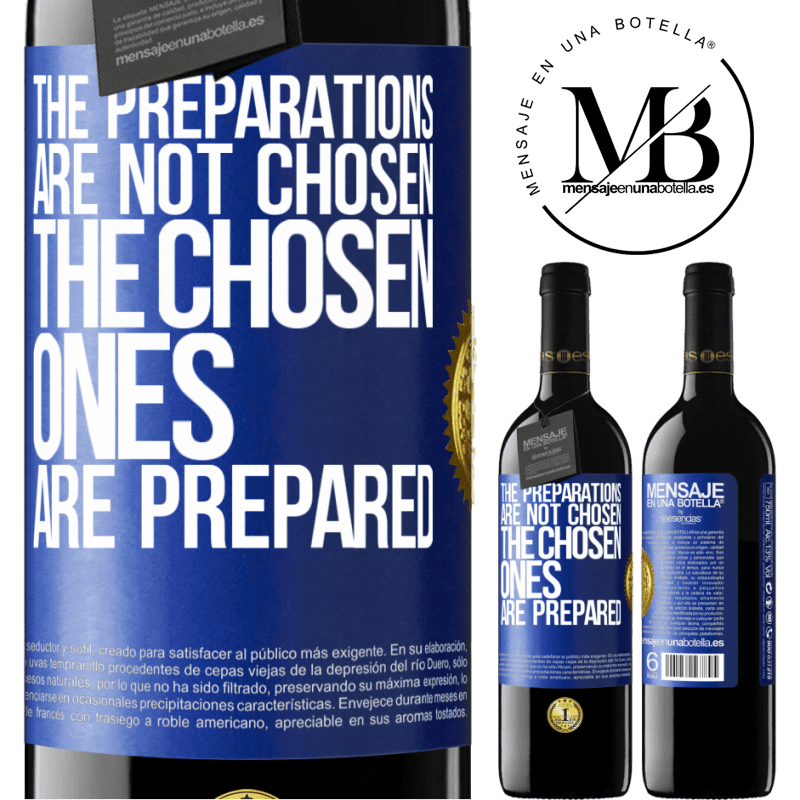 24,95 € Free Shipping | Red Wine RED Edition Crianza 6 Months The preparations are not chosen, the chosen ones are prepared Blue Label. Customizable label Aging in oak barrels 6 Months Harvest 2018 Tempranillo