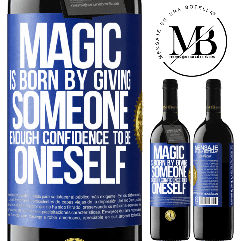 24,95 € Free Shipping | Red Wine RED Edition Crianza 6 Months Magic is born by giving someone enough confidence to be oneself Blue Label. Customizable label Aging in oak barrels 6 Months Harvest 2018 Tempranillo