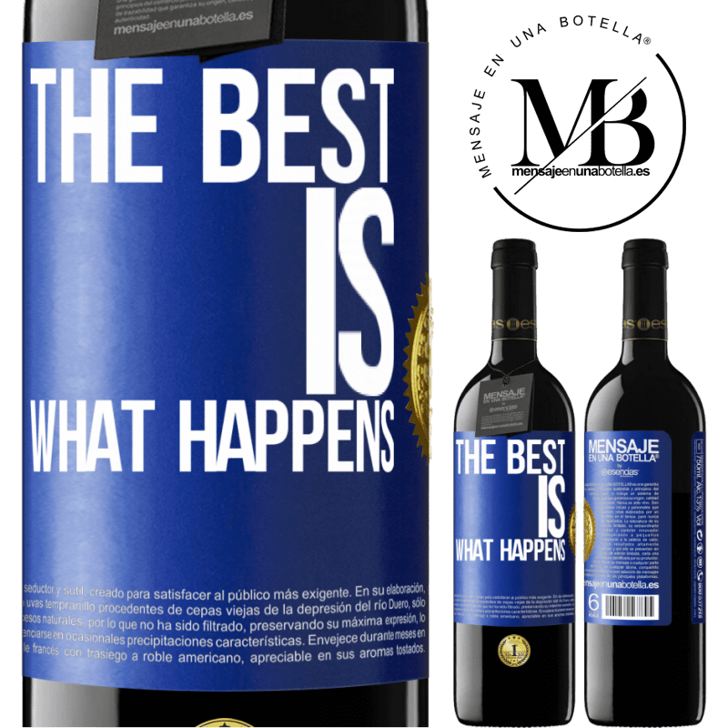 24,95 € Free Shipping | Red Wine RED Edition Crianza 6 Months The best is what happens Blue Label. Customizable label Aging in oak barrels 6 Months Harvest 2018 Tempranillo