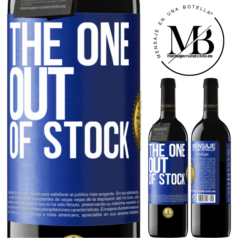 24,95 € Free Shipping | Red Wine RED Edition Crianza 6 Months The one out of stock Blue Label. Customizable label Aging in oak barrels 6 Months Harvest 2018 Tempranillo