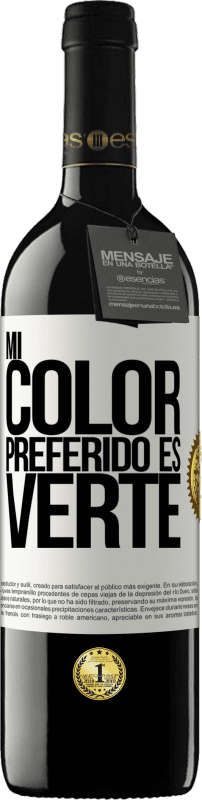 24,95 € Free Shipping   Red Wine RED Edition Crianza 6 Months Mi color preferido es: verte White Label. Customizable label Aging in oak barrels 6 Months Harvest 2018 Tempranillo