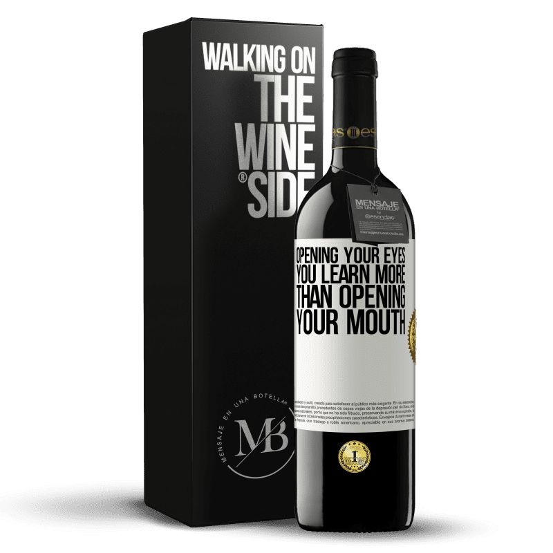 24,95 € Free Shipping | Red Wine RED Edition Crianza 6 Months Opening your eyes you learn more than opening your mouth White Label. Customizable label Aging in oak barrels 6 Months Harvest 2018 Tempranillo