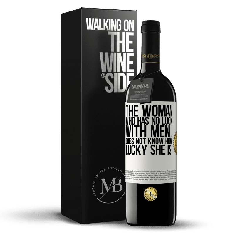 24,95 € Free Shipping | Red Wine RED Edition Crianza 6 Months The woman who has no luck with men ... does not know how lucky she is! White Label. Customizable label Aging in oak barrels 6 Months Harvest 2018 Tempranillo