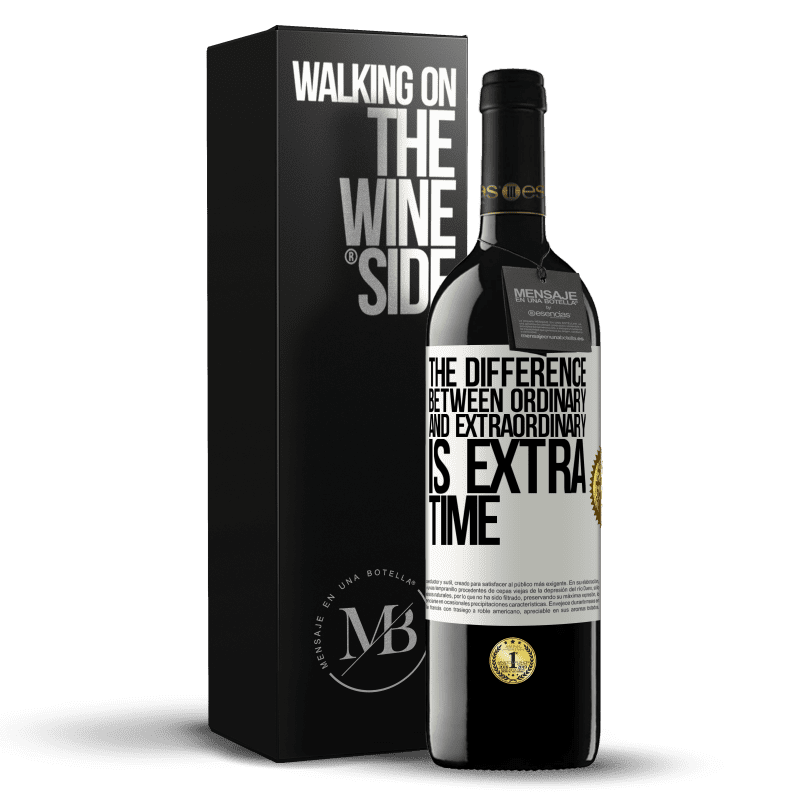 24,95 € Free Shipping | Red Wine RED Edition Crianza 6 Months The difference between ordinary and extraordinary is EXTRA time White Label. Customizable label Aging in oak barrels 6 Months Harvest 2018 Tempranillo