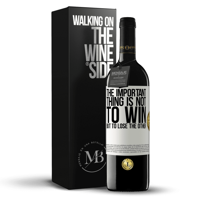 24,95 € Free Shipping   Red Wine RED Edition Crianza 6 Months The important thing is not to win, but to lose the other White Label. Customizable label Aging in oak barrels 6 Months Harvest 2018 Tempranillo