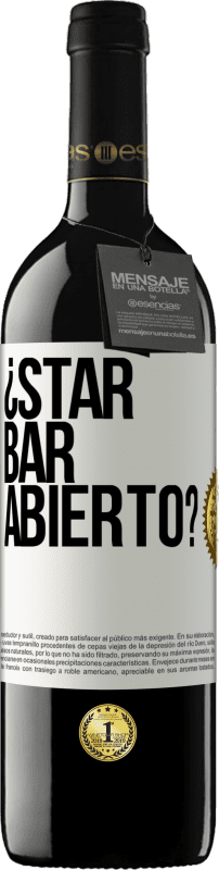 24,95 € Free Shipping | Red Wine RED Edition Crianza 6 Months ¿STAR BAR abierto? White Label. Customizable label Aging in oak barrels 6 Months Harvest 2018 Tempranillo